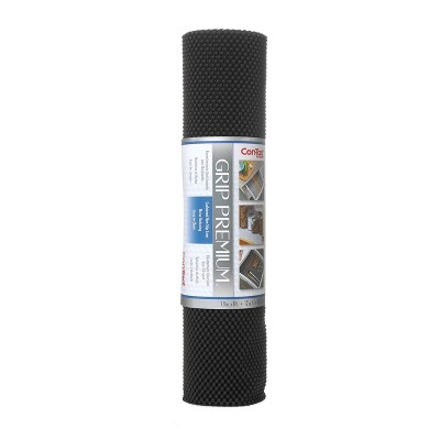 Con-Tact Brand Grip Premium Non-Adhesive Shelf Liner- Thick Grip Black (18''x 8')