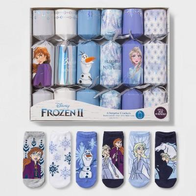 Women's Frozen 2 6pk Socks in Surprise Crackers - Assorted Colors