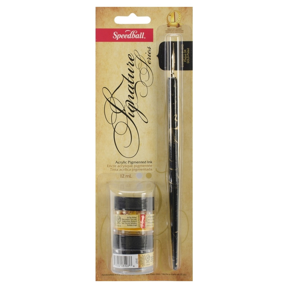 Image of Speedball Calligraphy Pen Set - Black, 3ct