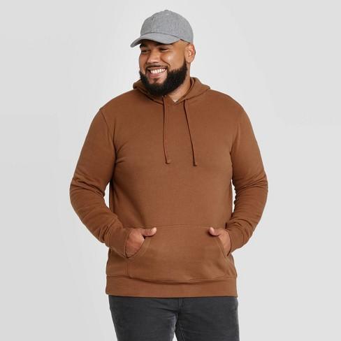 Men's Big & Tall Regular Fit Fleece Pullover Hoodie Sweatshirt - Goodfellow & Co™ Brown - image 1 of 3