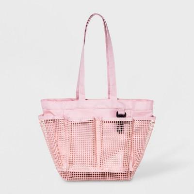 Polyester Mesh Bathtub Caddy Pink - Room Essentials™