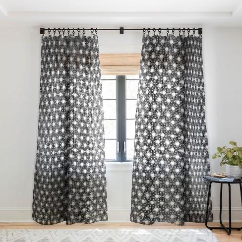 Szi Brown Mila Sun Black Single, Black And Brown Curtains