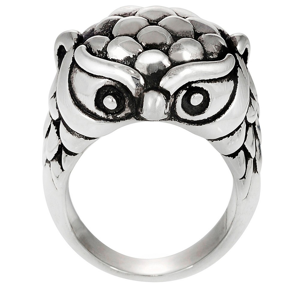 Tressa Collection Women's Owl Ring in Sterling Silver - Silver (6)