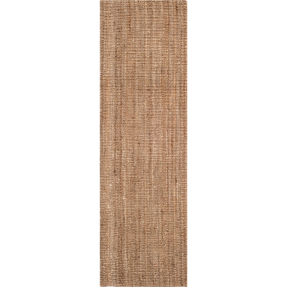 2'6X16' Solid Woven Runner Natural/Gray - Safavieh