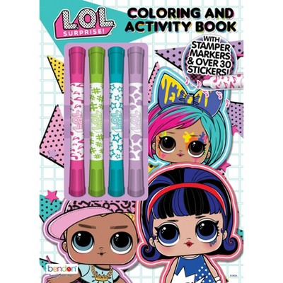 LOL Surprise Coloring Book with Mini Stamper Markers