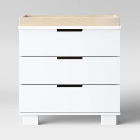 Babyletto Modo 3 Drawer Changer Dresser White Washed Natural