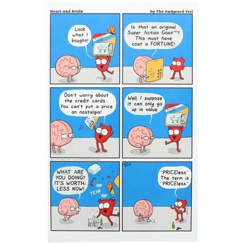 Nerd Block Heart and Brain Art Print by Awkward Yeti (Nerd Block Exclusive) - image 1 of 1