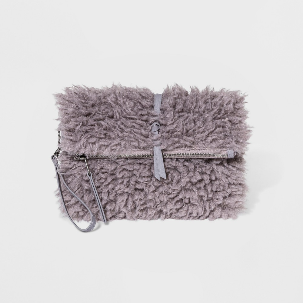 Sherpa Wrap Clutch - Universal Thread Gray, Women's