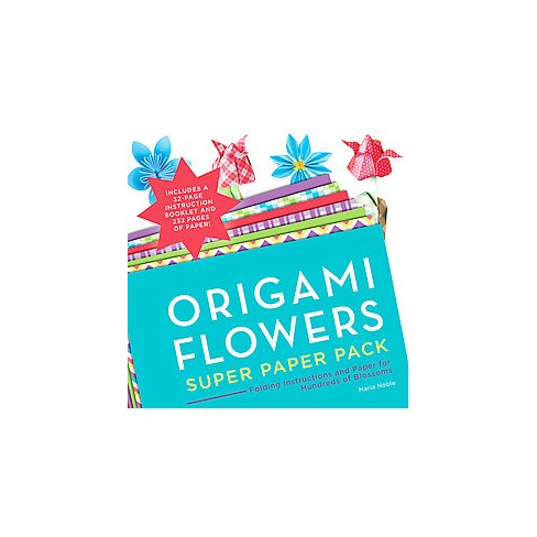 Origami Flowers Super Paper Pack Folding Instructions And Paper
