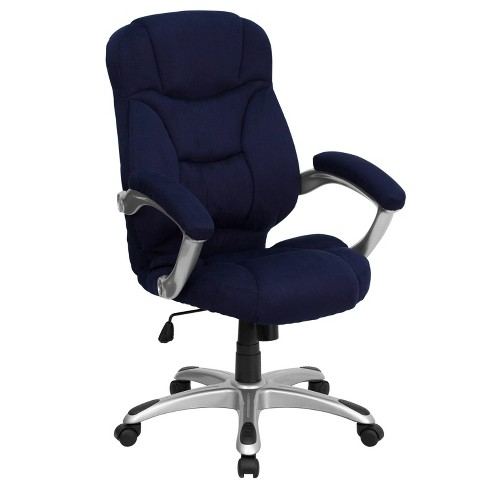 Contemporary Executive Swivel Office Chair Navy Blue Microfiber Flash Furniture Target