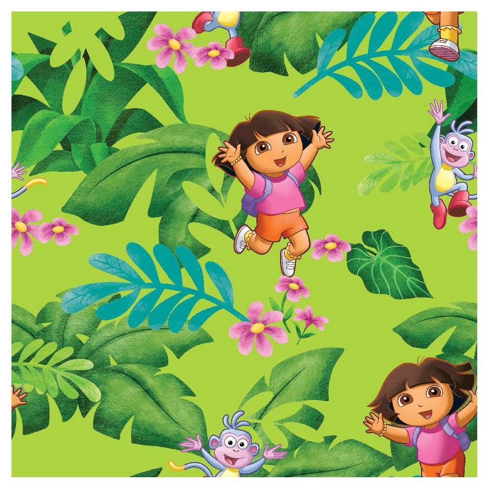 Image of Dora The Explorer Jungle Fun Fabric