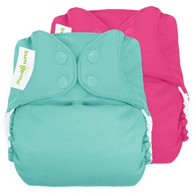 bumGenius Freetime All-in-One Snap Cloth Diaper, One Size - Countess/Mirror