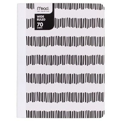 Mead Wide Ruled Striped Composition Notebook
