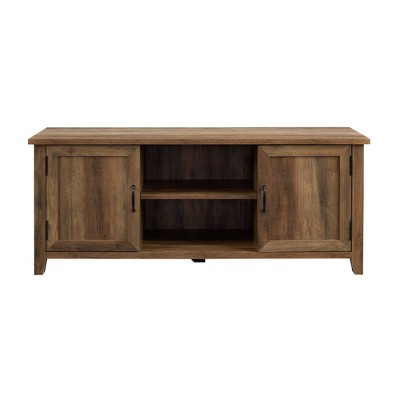 """Modern Farmhouse TV Stand for TVs up to 65"""" Rustic Oak - Saracina Home"""