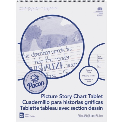 Pacon Picture Story Chart Tablet, 24 x 32 Inches, 25 Sheets - image 1 of 2