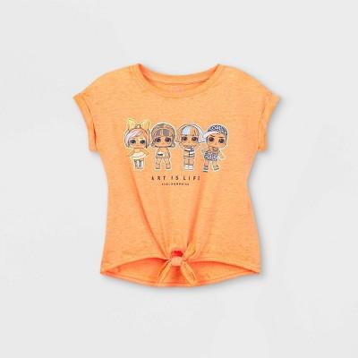 Girls' L.O.L. Surprise! Art is Life Short Sleeve T-Shirt - Orange