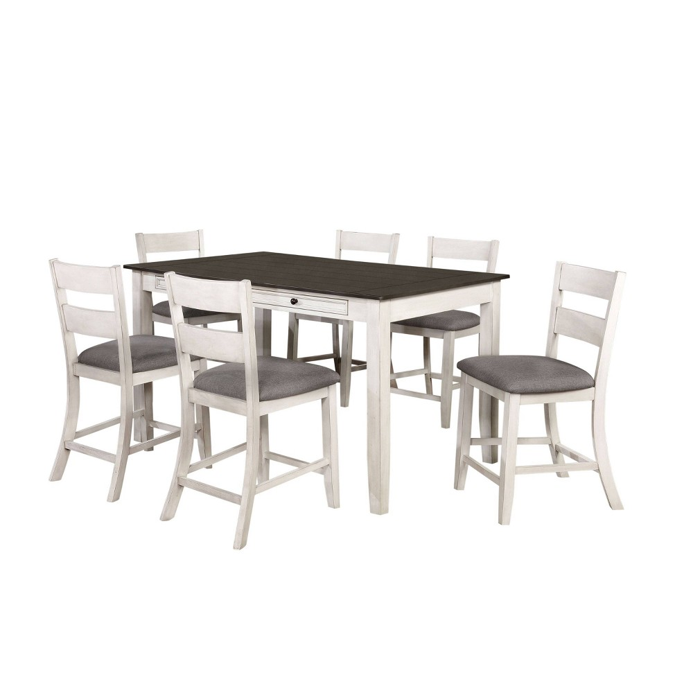 Best 7pc Acker Counter Height Dining Set Gray - HOMES: Inside + Out