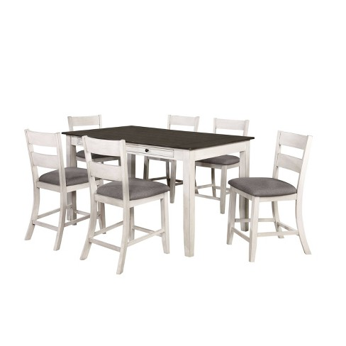 7pc Acker Counter Height Dining Set Gray - HOMES: Inside + Out - image 1 of 4