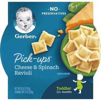 Gerber Pasta Pick-ups, Spinach & Cheese Ravioli - 6oz