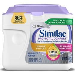 Similac Pro-Total Comfort Non-GMO Infant Formula with Iron Powder - 22.5oz