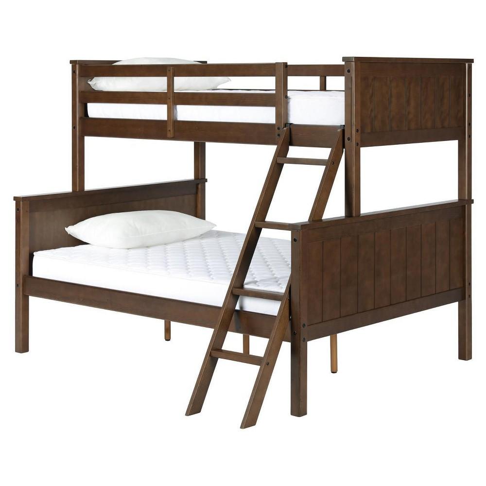 Roscoe Twin over Full Bunk Bed Mocha (Brown) - Dorel Living