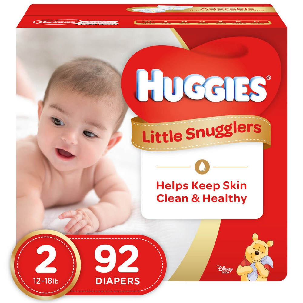 Huggies Little Snugglers Diapers - Size 2 (92ct)