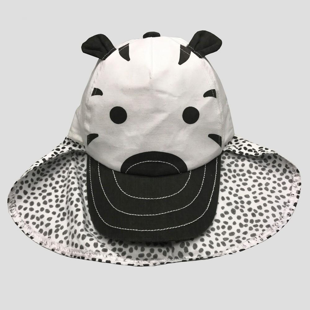 Baby Boys' Zebra Baseball Hat - Cat & Jack Black/White 6-12M, Gray