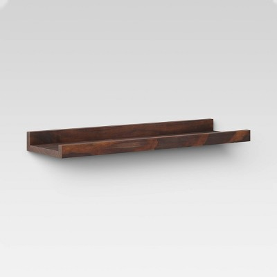 "24"" x 7"" Wood Ledge Wall Shelf Brown - Threshold™"
