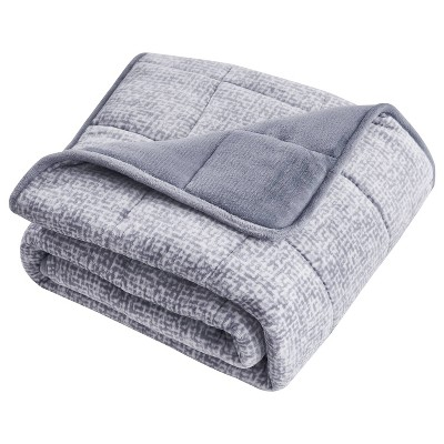 "10lbs 50""x60"" Machine Washable Shiny Velvet Weighted Throw Blanket - Dream Theory"