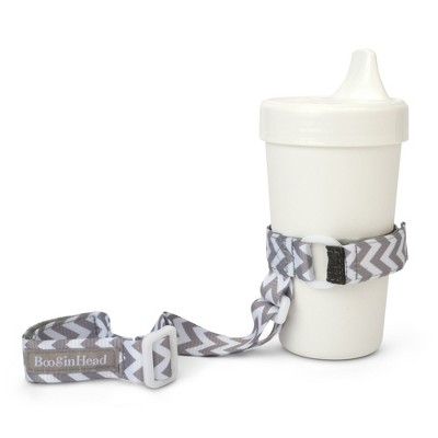 BooginHead SippiGrip Sippy Cup strap Sippy Cup Holder - Gray/White Chevron