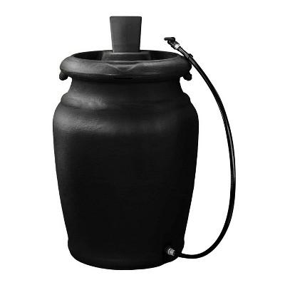 FCMP Outdoor US4000-BLK Urn Style (Black) Rain Barrel