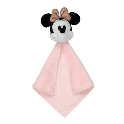 Lambs & Ivy Disney Baby MINNIE MOUSE Lovey Pink/White Plush Security Blanket