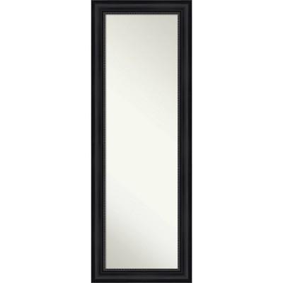 "19"" x 53"" Astor Framed Full Length on the Door Mirror Black - Amanti Art"