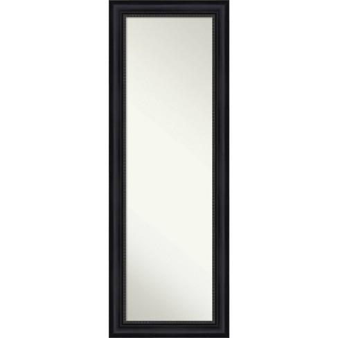 "19"" x 53"" Astor Framed Full Length on the Door Mirror Black - Amanti Art - image 1 of 4"