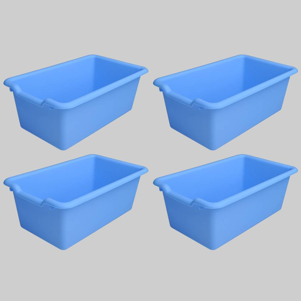 4ct Plastic Bins Blue - Bullseye's Playground was $12.0 now $6.0 (50.0% off)