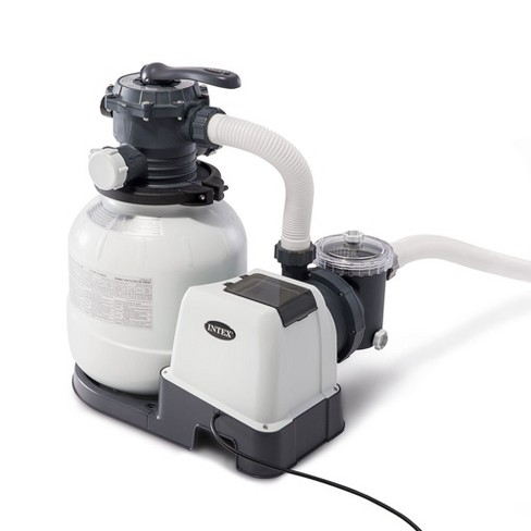 Intex Pool Sand Filter Pump w/ Auto Timer and Auto Pool Pressure Vacuum (2 Pack) - image 1 of 4