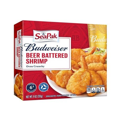 Sea Pak Budweiser Beer Battered Frozen Shrimp - 9oz - image 1 of 2