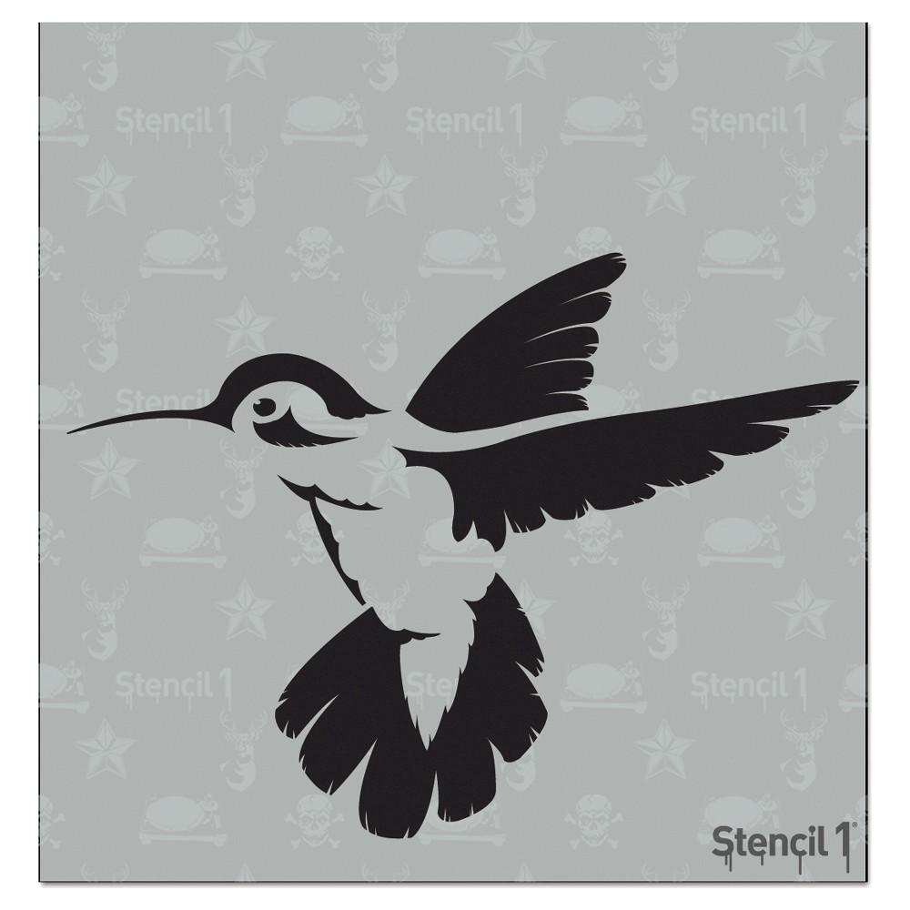 Stencil1 Hummingbird - Stencil 5.75