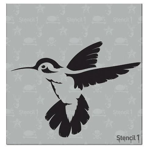 """Stencil1 Hummingbird - Stencil 5.75"""" x 6"""" - image 1 of 3"""