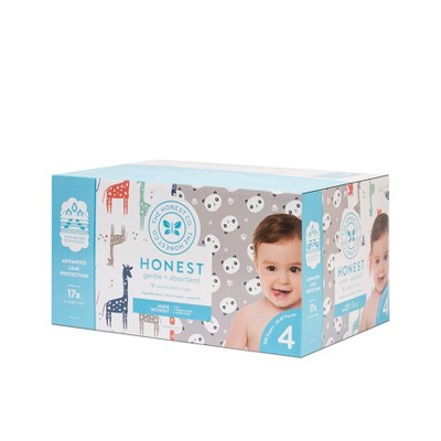 The Honest Company Disposable Diapers Super Club Box Pandas & Giraffes - Size 4 - 120ct