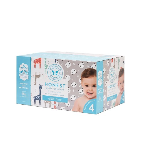 Honest Company Disposable Diapers Giraffes & Pandas - Size 4 (120ct) - image 1 of 3