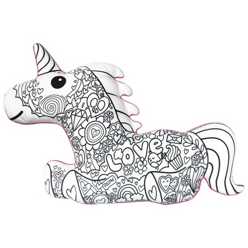 Two Scoops Magical Unicorn Color Me Pillow - image 1 of 2