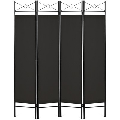 Best Choice Products 6ft 4-Panel Folding Privacy Screen Room Divider Decoration Accent w/ Steel Frame