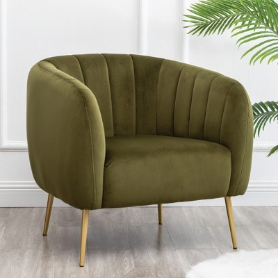 eLuxury Modern Channel Accent Chair