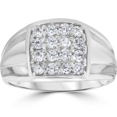 Pompeii3 1 cttw Diamond Mens Ring 10k White Gold
