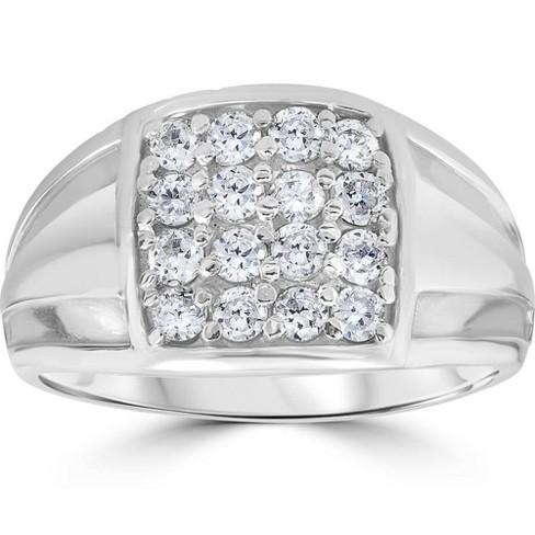 Pompeii3 1 cttw Diamond Mens Ring 10k White Gold - image 1 of 4