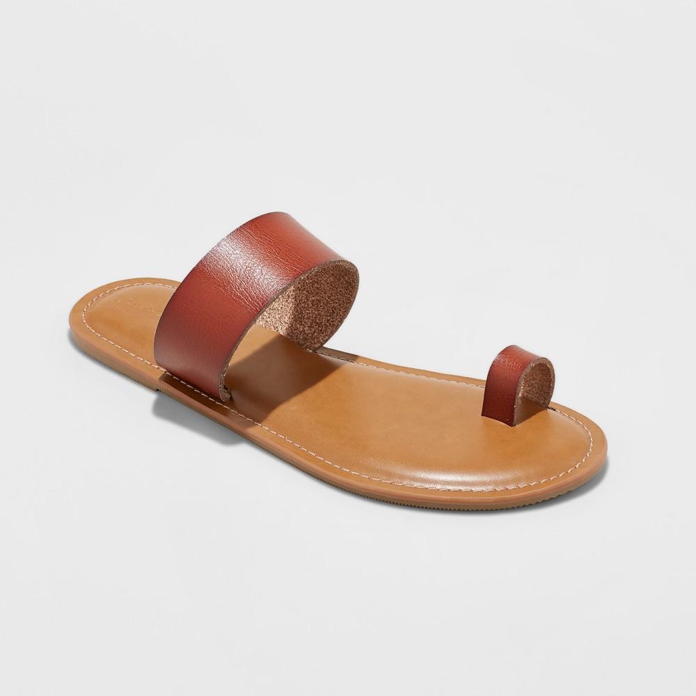 Women's Kessie Slide Sandal - Universal Thread Cognac (Red) 8