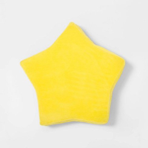 Sensory-Friendly Water-Resistant Star Floor Cushion with Machine-Washable Cover Yellow - Pillowfort™ - image 1 of 3