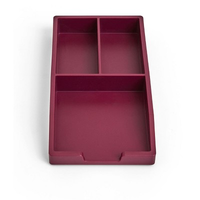TRU RED Stackable Plastic Accessory Tray, Purple TR55246