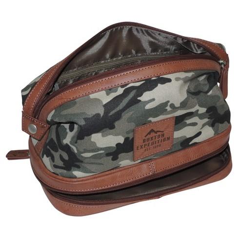 f90f07881f58 Buxton® Men s Expedition II Huntington Gear Bottom Zip Travel Kit   Target